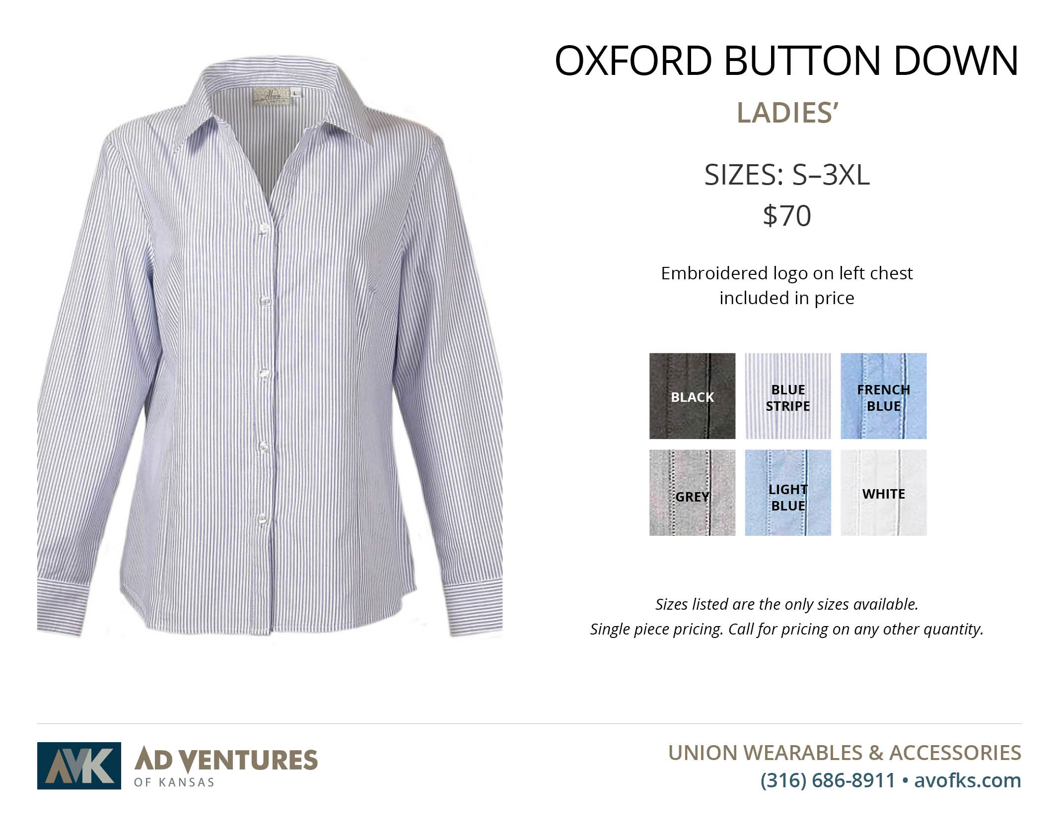 ladies oxford button down