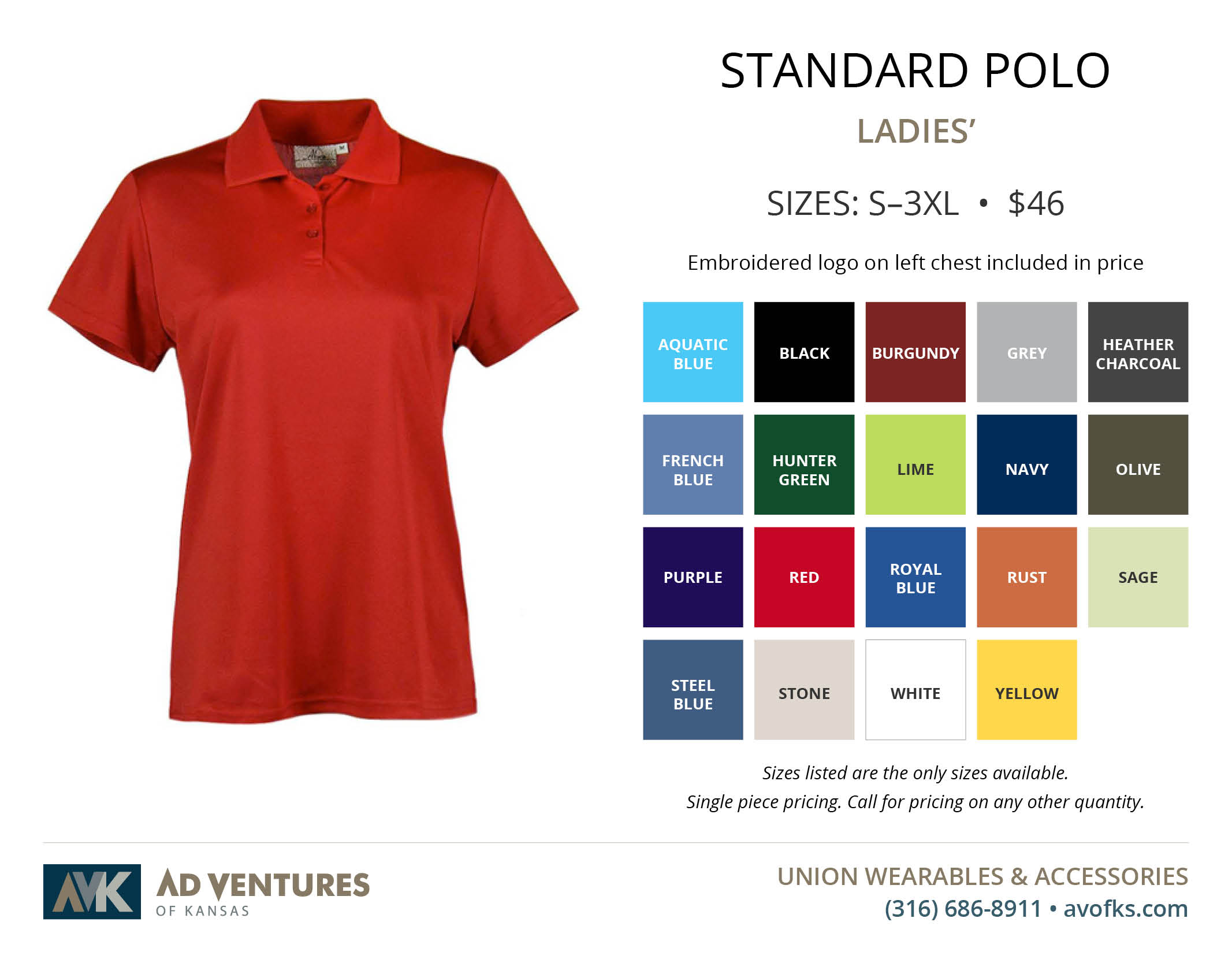 ladies standard polo